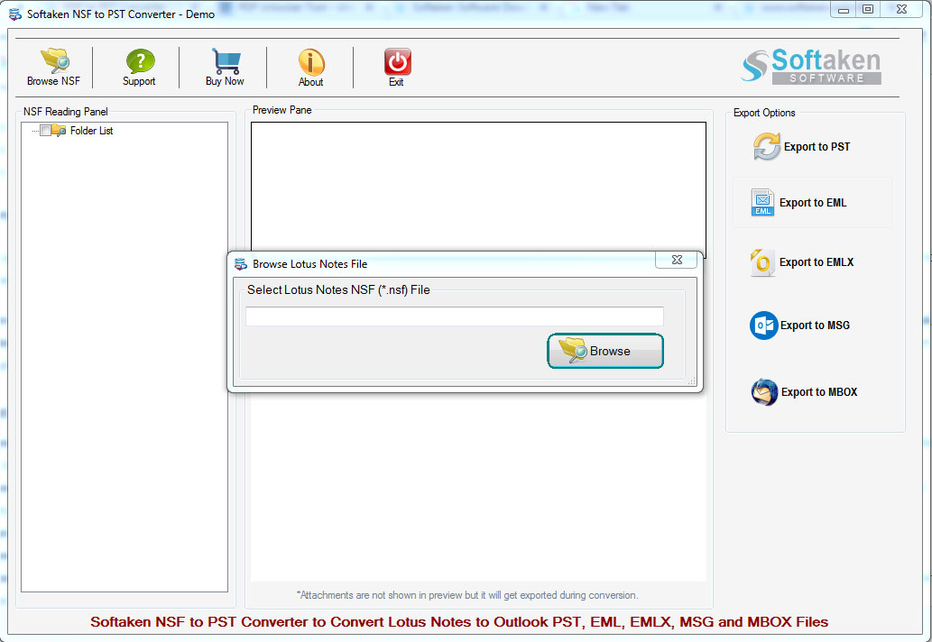NSF to PST Converter Software Free