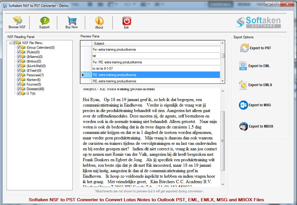 Convert nsf file to pst file 8.1